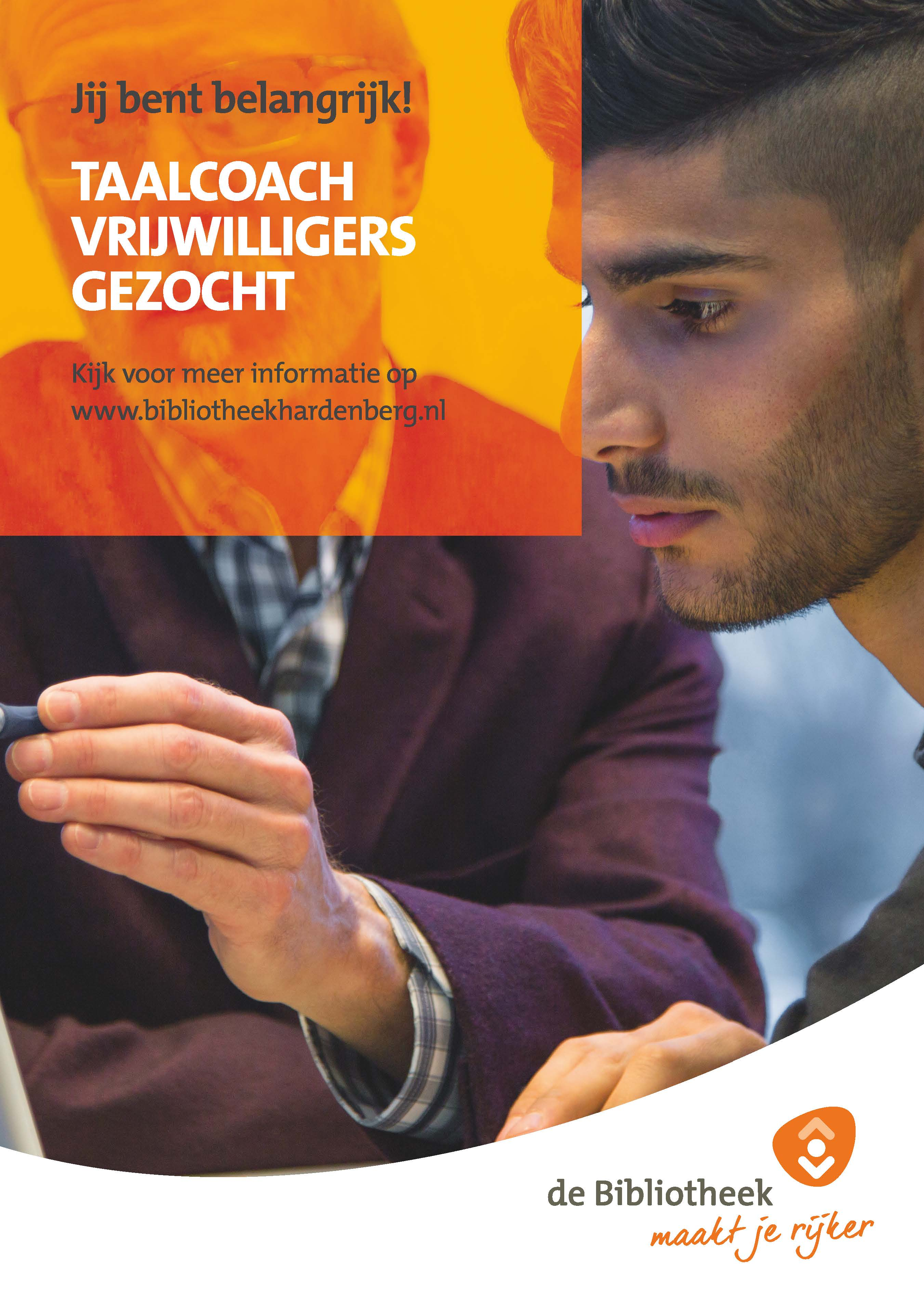 Poster vrijwilligers taalcoach
